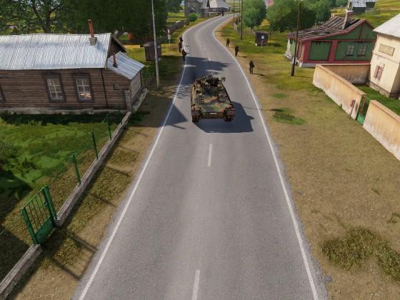 Leeres Dorf wird durchkämmt